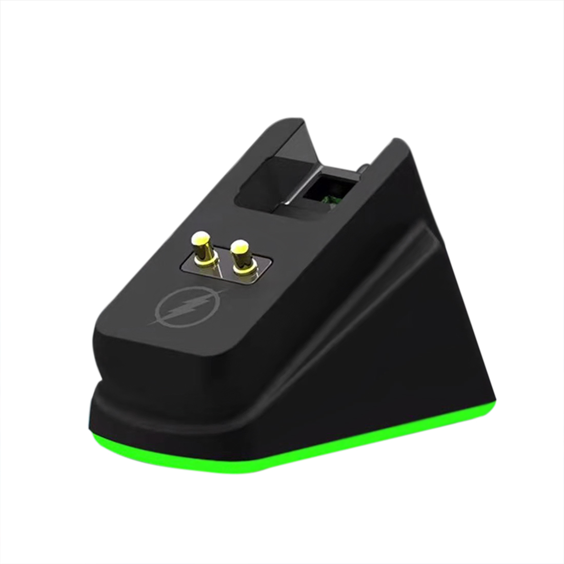 RGB Mouse Charging Dock Chroma for Razer Wireless Mouse Magnetic Dock with Charge Status Anti-Slip Gecko Feet - Black