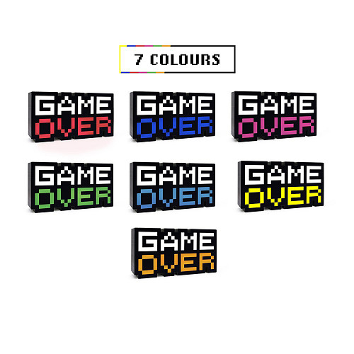 8-Bit Game Over Light Color Changing Sound Reactive Collectible Decor Lamp