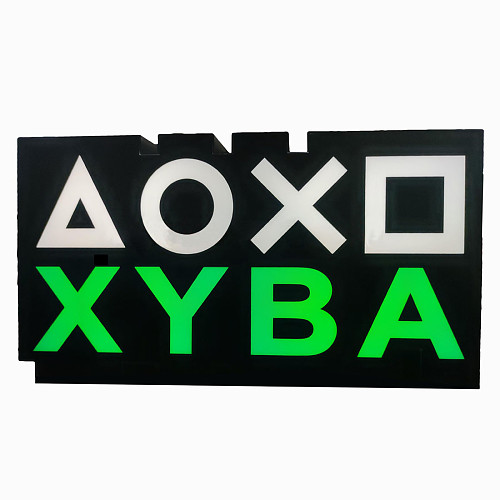 PlayStation Icons Light XYBA Voice Control Game Atmosphere Light Game Room Wall Decor