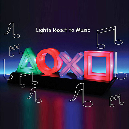 PlayStation Icons Light Horizontal Voice Control Game Atmosphere Light Game Room Wall Decor