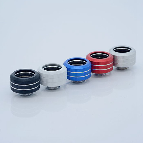 Computer Water Cooling 16MM Color Hard Tube Fitting 3 Sealing Ring Internal Thread Fixing (Support PETG/PMMA Hard Tube)