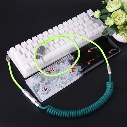 Keyboard Cable USB Type-C Coiled 1.1M Handmade with XLR Connector (Hobbyists Version)