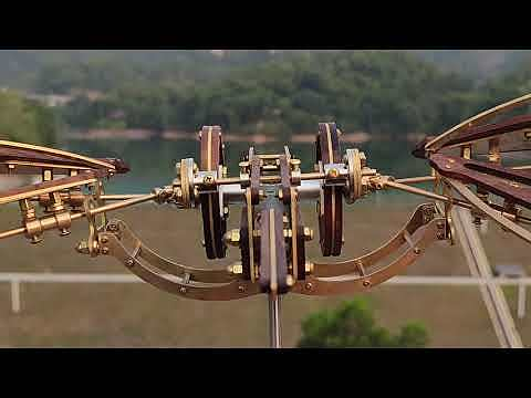 Mysterious Aircraft Dynamic Mechanical Sculpture 3D Metal Model Kits Gaming Room Decor