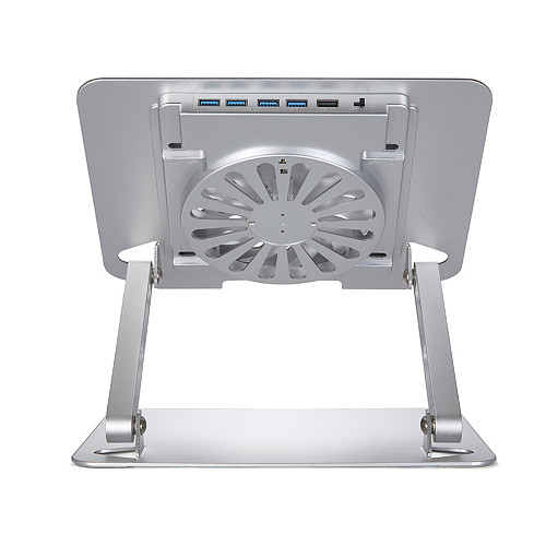 Adjustable Laptop Cooling Pad Riser Foldable Multi-Angle Computer Stand with Cooling Fan (N47-3)