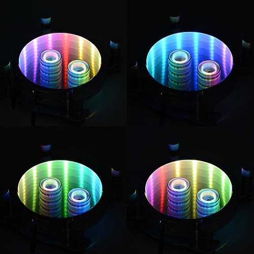 Freezemod PR-XPM CPU Water Block with Acrylic Cover and RGB LED Light for AM2/AM3/AM4