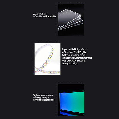 (Portrait Version) Custom RGB Plate Anime 2D Character Poster Display Board with LED Lights for PC