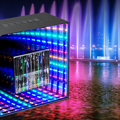 Water Dancing Bluetooth Speaker Wireless Speakers with LED Lights Gaming Room Decor