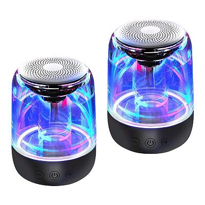 2pcs YAYUSI C7 Wireless Bluetooth Speaker with Colorful Light Gaming Room Decor