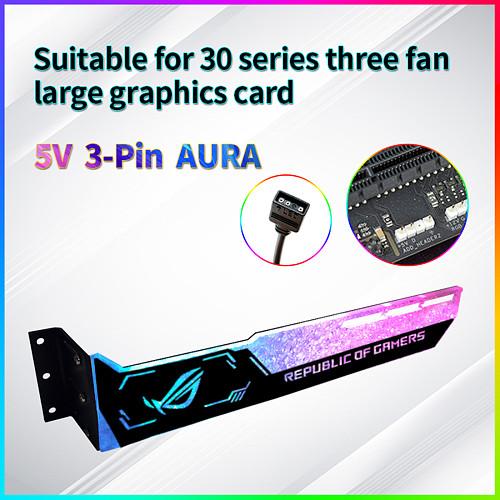 5V 3-Pin RGB Graphics Card Holder Colorful RGB GPU Support Video Card Holder Bracket