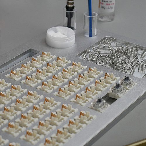 84 Switch Tester Opener Alluminum Station DIY Double-Deck Removal Platform Keycaps Puller for Custom Gateron Cherry Mechanical Keyboard