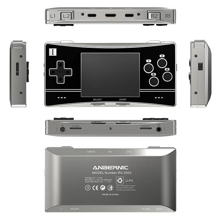 Latest Anbernic RG300X Handheld Retro Game Console 3.0-Inch IPS Screen