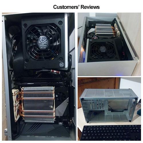 Aluminum Mini Computer Cases Gaming PC Mini Chassis For ITX 17 x 17cm