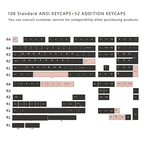 Sonic Theme Keycaps Set Double-color Original Height PBT for GH60/68/87/96/104 Mechanical Keyboard