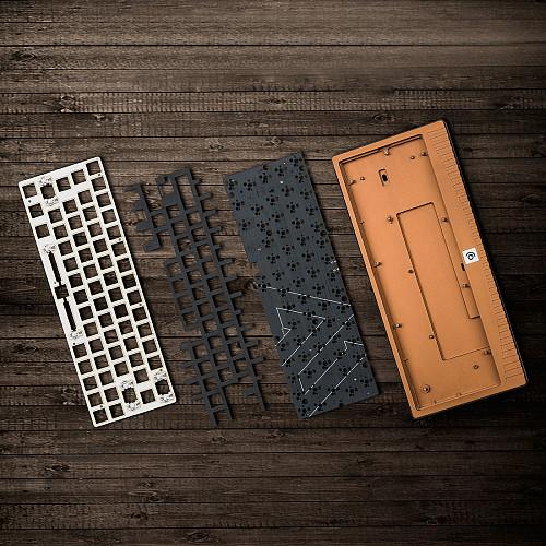 ABM648 64-Key Custom DIY Keyboard Kit CNC Aluminium Alloy for Mechanical Keyboard (Without Switches Keycaps)