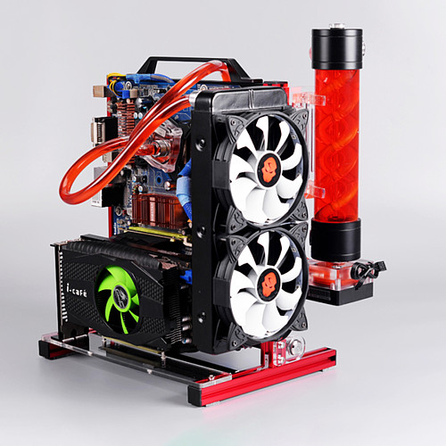 DIY Portable Computer Motherboard Case Rack ATX/M-ATX/ITX Vertical Metal Frame Open Water-cooled Chassis Set