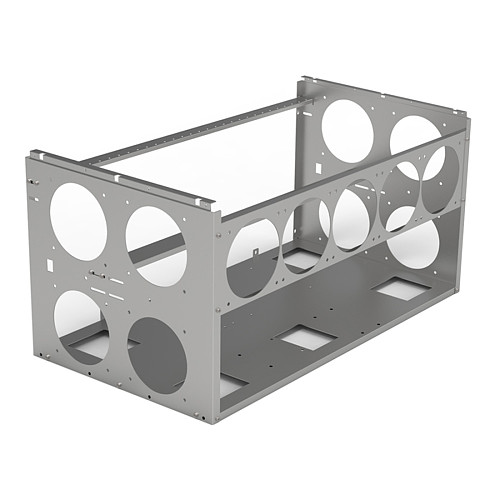 Open Style Multi-graphics Chassis Frame 6/8/10 Card Mining Rig Frame Supports Dual ATX Power Supply (Can be stacked in multiple layers)