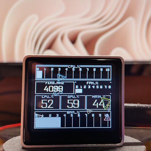 Thunder-Refix Oled Computer Performance Music Display Game Machine Aluminium Alloy Glass Screen