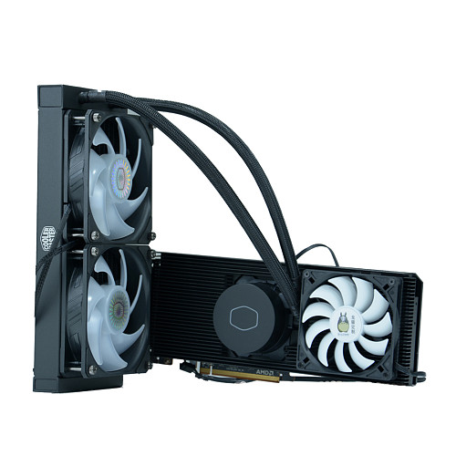 RTX3090 GPU Integrated Water Cooling DIY Modified Aluminum Radiator Video Memory Cooling 30° 360 Water Cooling Kit for RTX3090 3080 3080TI COLORFUL Vulcan neptune