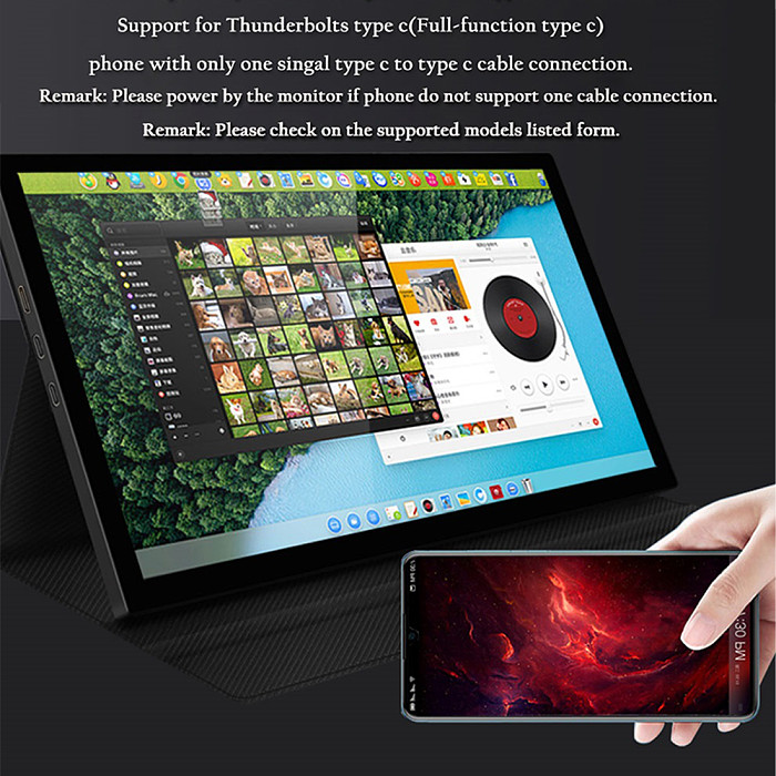 Gaming Monitor 8.9-inch Full HD LCD Touchscreen for PS4/PS5/XBOX ONE/Switch/RaspberryPi/Laptop