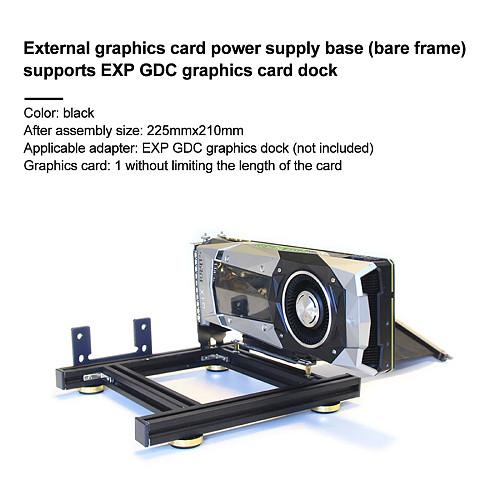 Graphics Card Holder DIY External Graphics Card Base with Power Base for EXP GDC Alluminum
