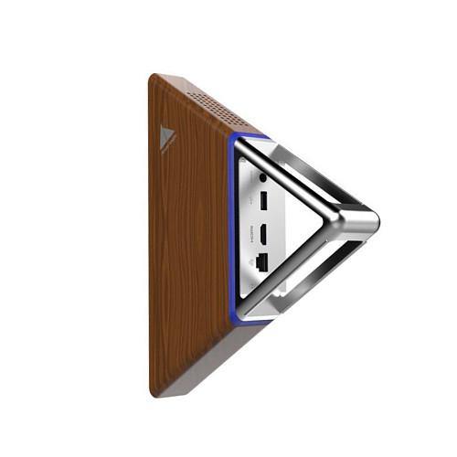 Mini PC Acute Angle Portable Windows 10 Pro Intel N3450 Quad-Core CPU (Max 2.2G) 8G RAM 64G eMMC 128G SSD/WiFi BT 4.0/4K HDMI Export Mini PC