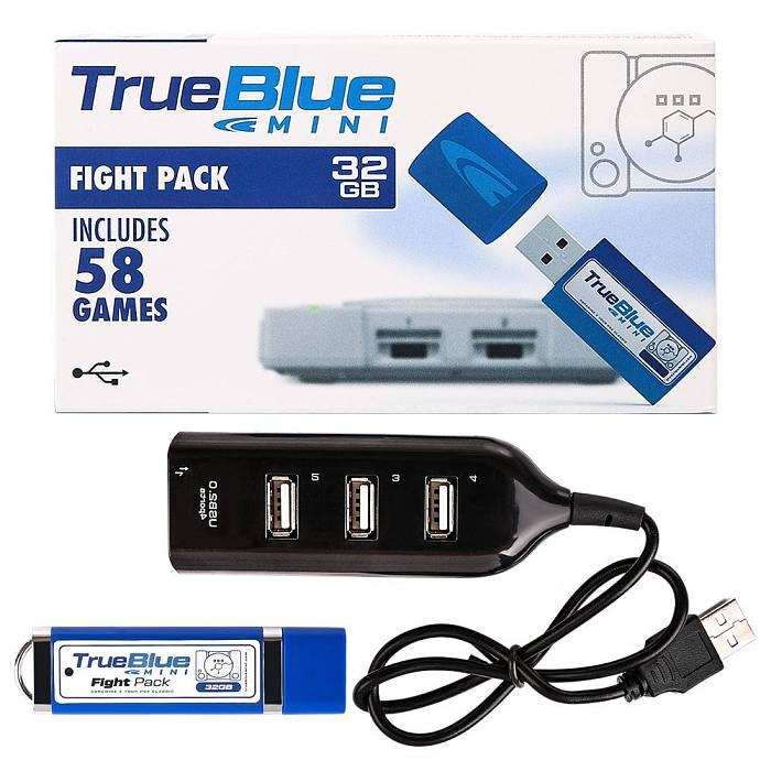 True Blue Mini USB Stick Plug and Play for Playstation Classic