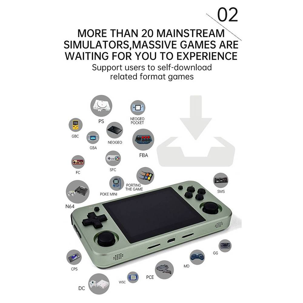 NEW Anbernic RG351MP Handheld Game Console 128GB 20000 Games, 64GB 12000 Games Metal Version