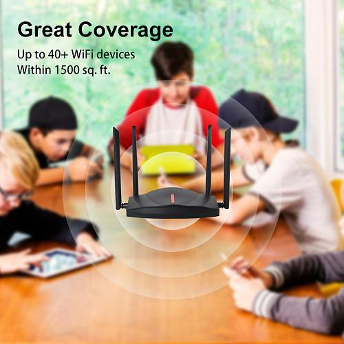 EDUP EP-AX1800S External Antenna Five-core WIFI 6 Gigabit 5G Dual-band Household Router