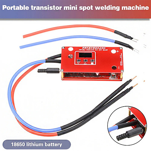 Portable DIY Mini Spot Welder Machine with LCD Display Automatic Touch Welding Mode for 18650 Battery 12V Car Battery Super Capcitor