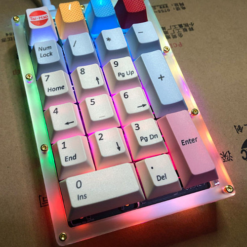 AK21 21 Key Customized Pad Digital Mechanical Keyboard (No Switch Body and Keycap Included)