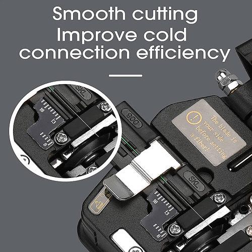 New Fiber Cleaver SKL-6C Cable Cutting Knife FTTH Fiber Optic Knife Tools Cutter High Precision Fiber Cleavers 16 Surface Blade