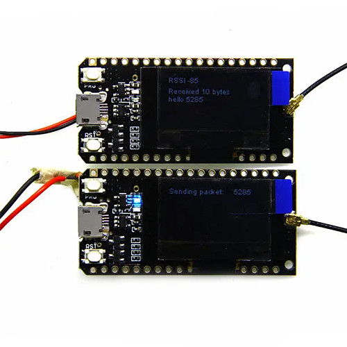 2pcs LILYGO TTGO LORA32 915Mhz ESP32 LoRa OLED 0.96 Inch Blue Display Bluetooth WIFI ESP-32 Development Board Module With Antenna - CH9102X Chip