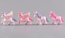 4 Pcs  Cute Unicorn Miniatures Figurines Fairy Garden Ornaments