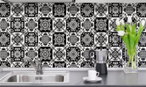 10-Pack Self-Adhesive Retro Tile Stickers