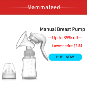 F001 Mammafeed Handy Manual Portable Breast Pump with Silicone Massager, Supports Enhanced Milk flow, BPA-Free, Great for Travel