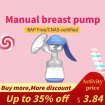 F002 Mammafeed Manual Breast Pump, Portable Breast Pump, Comfortable, All for Ideal Suction, Storage and Feeding Breast Pump 4 colors