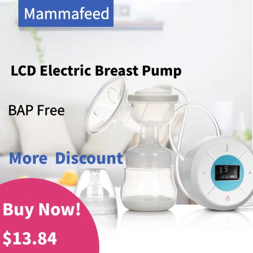 F006 Mammafeed  Electric Breast Pump, Breastfeeding Pump with Backflow Protector Pain Free 9 Levels Suction and Massage with 1 Milk Storage Bottle, BPA Free Hospital Grade,2 colors