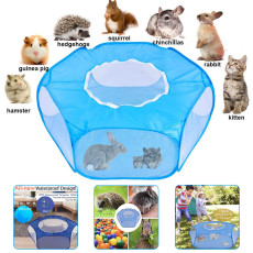 Pet Fence for Small Animal,Portable Pet Tent, Game Fence For Rabbits, Hamsters, Chinchillas, or Other Small Animals