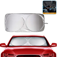 Shade and Light Curtain, Car Windshield Visor, Foldable Front Window Shade Cloth For Most Cars