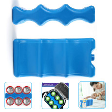 Ice Packs for Coolers, Breastmilk Bottle Storage, Lunch Box, Insulated Bags, Contoured Freezer Packs, Long Lasting Reusable Cool Packs for Beer Cans Soda, Camping Beach Picnic
