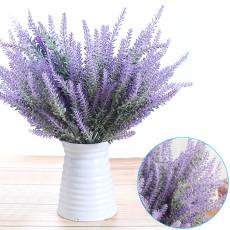 5 PCS Simulation Flocking Lavender, Flocking Pastoral Style Decoration, For Home Living Room Kitchen Decoration