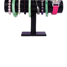 Two-layer Flannel Bracelet Holder Jewelry Holder, Display Stand for Bracelet Watch Hair Ring Jewelry,Black