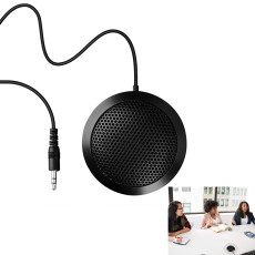 3.5mm Computer Condenser Microphone, Game Microphone For Video and Audio Conference Recording (Black)