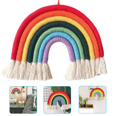 Rainbow Hanging Decor, Hand-knitted Ornaments, Home Decoration Accessories For Bedroom Living Room