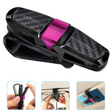 2 PCS Car Carbon Fiber Glasses Holder, Car Card Holder, Bill Holder,  Glasses Holders for Car Sun Visor, Multifunctional Car Supplies