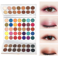 63 Colors Matte Shadows Palette Powder Shimmer Eyeshadow Cream Beauty Palette, Professional Makeup Pallet Long Lasting Eye Makeup Set