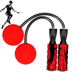 Wireless Cordless Jumping Rope Jump  Calorie  for Indoor Outdoor  Fits  Any Skill Level Best (Red)