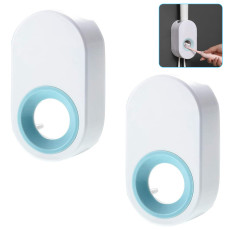 Automatic Toothpaste Dispenser with Toothbrush Holder, Hands-Free Toothpaste Squeezer Wall Mounted for Family Washroom Bathroom