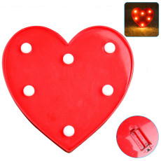 Luminous LED Love Night Light, Creative  Battery Lamp Romantic Wedding Party Valentine's Day Decor