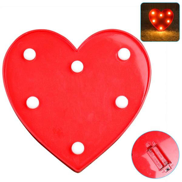 Luminous LED Love Night Light, Creative  Battery Lamp Romantic Wedding Party Valentine's Day Decor